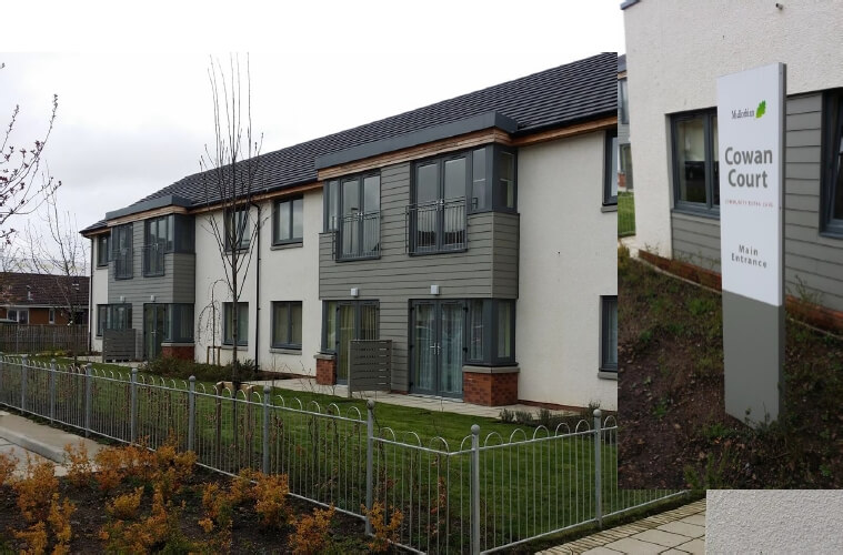 Cowan Court Assisted Living near Edinburgh; 32 Apartments with ThermaSkirt Heating in all rooms.