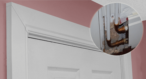 The Architrave Kit allows you to take the pipes up and over doorways