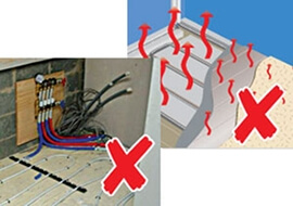 Embedding the heating in the concrete ensures controllability is diminished