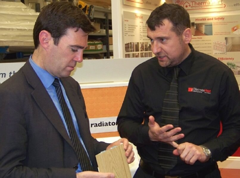 Martin Wadsworth with Andy Burnham