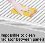 Impossible to clean Radiators between panels