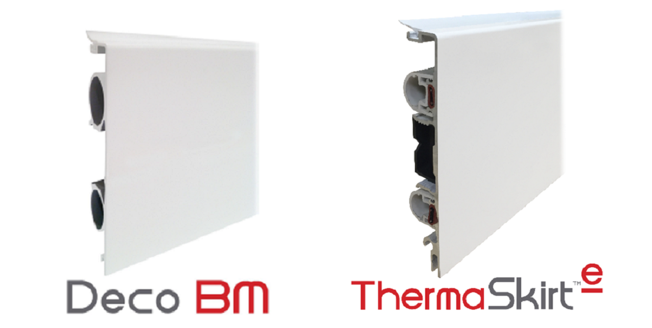 The ThermaSkirt system is available in both 'wet' central heating and direct electric options